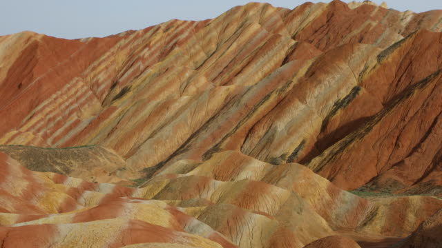 China, Gansu Zhangye Danxia National Geopark, view of the colorful mountains