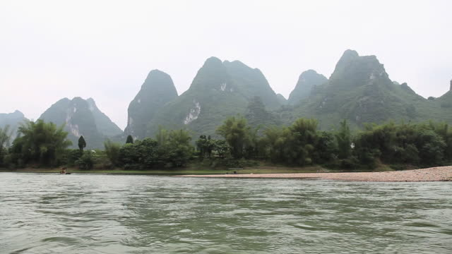 China, guangxi province, li river view from a boat