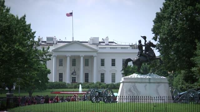 China hits back against US as trade war escalates USA Washington DC EXT Long shot The White House