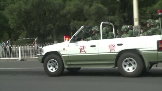 china imposes smothering security in central beijing on the 25th anniversary of the tiananmen square crackdown a bloody watershed in history that... - 25th anniversary stock videos and b-roll footage