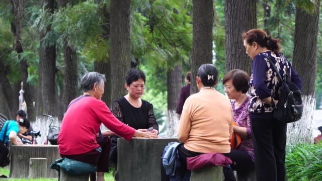 china is a fast aging country. by 2050, one third of the chinese population will be above 60 years old. - 社会保障点の映像素材/bロール