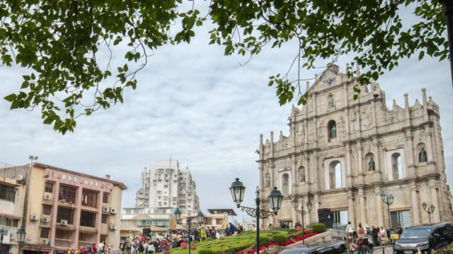 china macau - leal senado square stock videos and b-roll footage