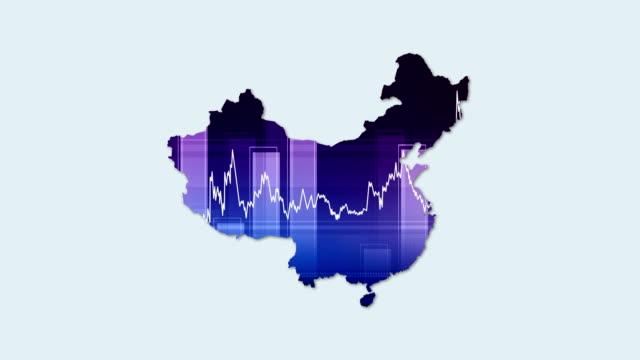 4k china karte und financial-wirtschaft-hintergrund - liniendiagramm stock-videos und b-roll-filmmaterial