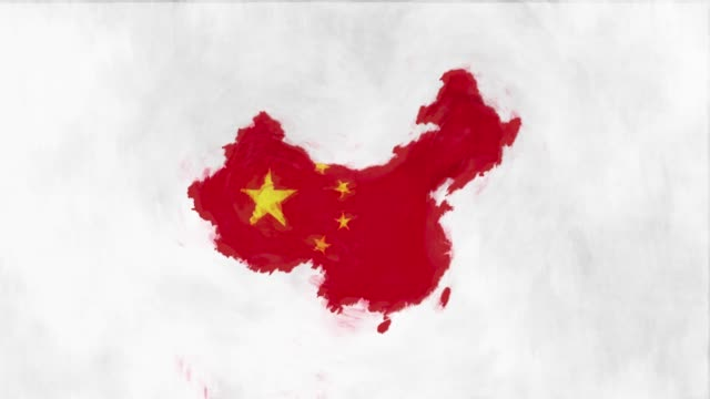 stockvideo's en b-roll-footage met china kaart vlag - nationaal monument beroemde plaats