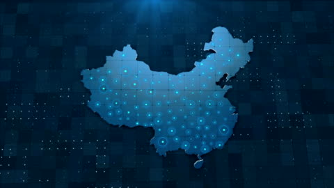 4k china map links 4k with full background details - china east asia stock videos & royalty-free footage