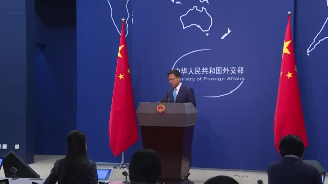 stockvideo's en b-roll-footage met china offered a lowyet rebuttal to us president donald trump's accusation of mass killing on thursday with a foreign ministry official insisting the... - verwijten
