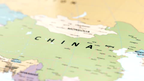 asien china auf weltkarte - chinese culture stock-videos und b-roll-filmmaterial