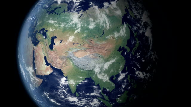 china verrà visualizzato dopo terra zoom (con alfa opaco) - europa continente video stock e b–roll