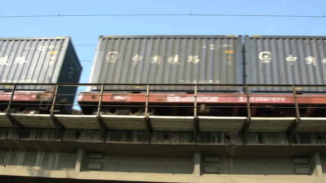stockvideo's en b-roll-footage met china railway corporation reported that the valueadded tax rate of china's railway transportation service has decreased from 11% to 10% since may 1... - tax