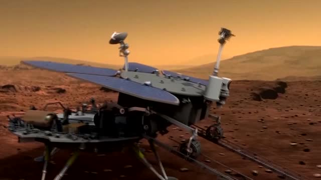 various of animation showing mars rover zhurong moving on mars file: china - exact date and location unknown 11. various of unfinished mars probe 12.... - 6 11 months stock videos & royalty-free footage