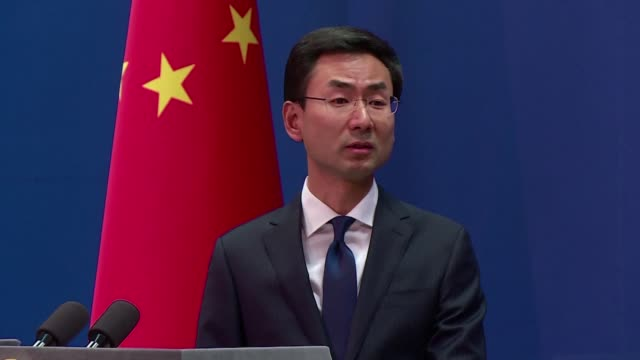 china rejects remarks made by us secretary of state mike pompeo that it was cynically exploiting the world trade organization rules to unfairly... - president stock videos & royalty-free footage