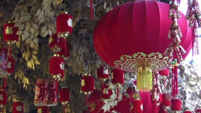 cu, china, shanghai, chinese lanterns - tassel stock videos & royalty-free footage