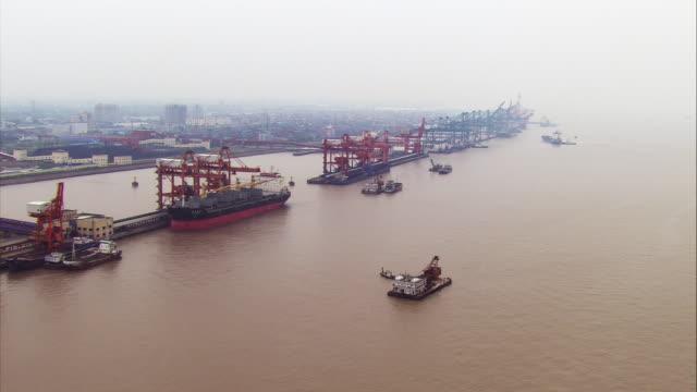 china, shanghai: harbor - deck stock videos & royalty-free footage