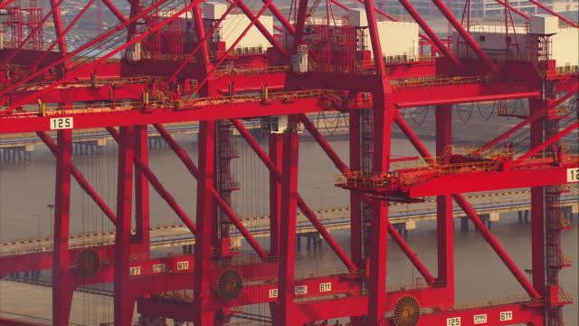 china, shanghai: harbor - harbour stock videos & royalty-free footage