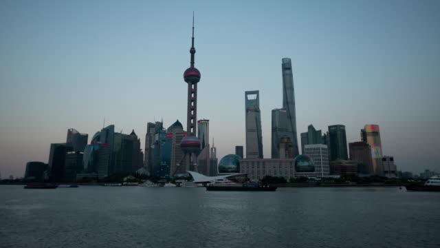 China Shanghai timelapse skyscrapers oriental pearl tv tower