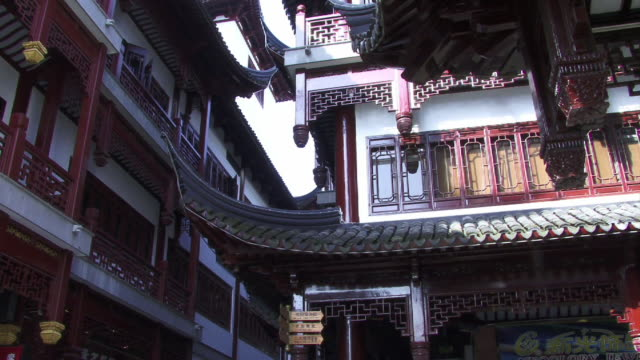 cu, tu, china, shanghai, yu yuan garden, chinese pavilion - old town stock videos & royalty-free footage