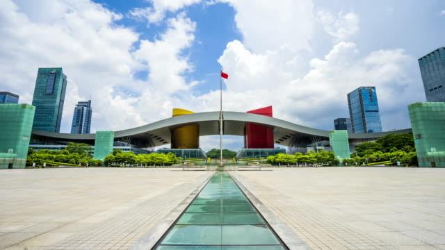 China Shenzhen stad landschap time-lapse fotografie