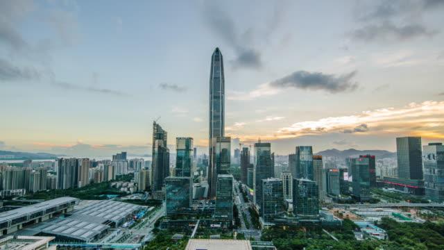 China, Shenzhen Stadt Landschaft Zeitrafferaufnahme