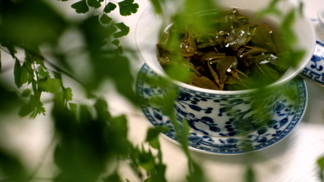 china tea - chinese tea cup stock videos and b-roll footage