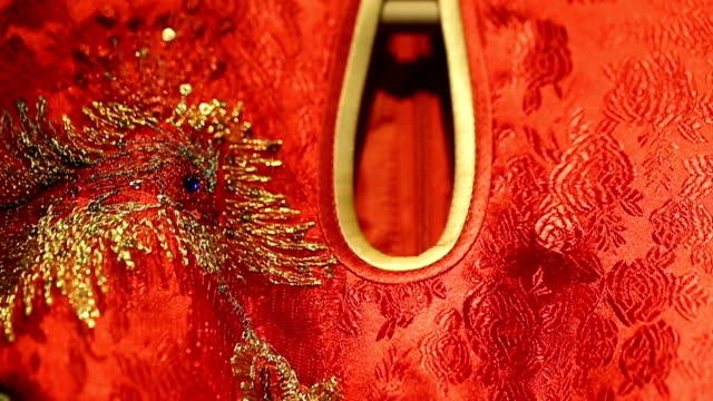 China traditional wedding dress.