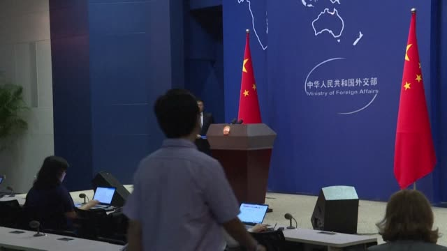 china urged the us to stop using religious issues to interefere in china internal affairs a day after us president donald trump met with a group of... - donald trump us president stock videos and b-roll footage