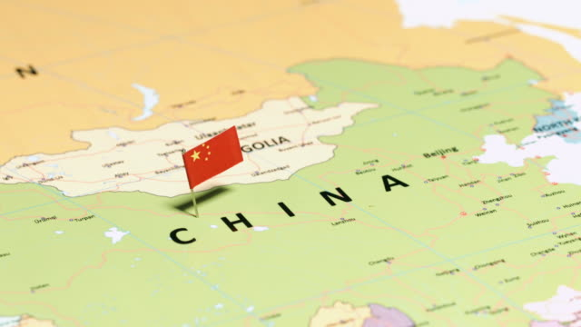 china with national flag - china east asia stock videos & royalty-free footage