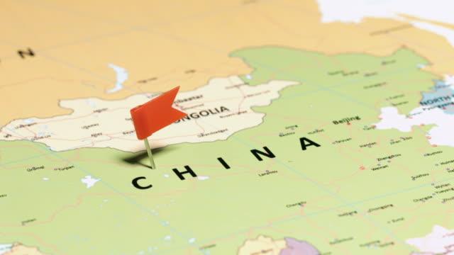 Chine avec goupille