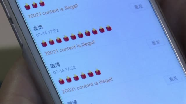 china's censors race to scrub social media networks of candles rip and other tributes to nobel laureate liu xiaobo as they seek to silence discussion... - censura video stock e b–roll