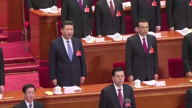 china's communist party opens its 19th national congress on wednesday a twice a decade political meeting to reshuffle leadership positions - communist party stock videos and b-roll footage