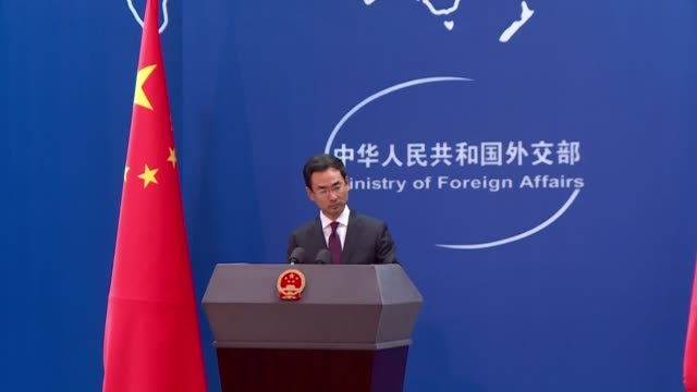 china's foreign ministry condemns us president donald trump's latest threats to impose tariffs on $550 billion of chinese goods saying the move would... - tariff stock videos & royalty-free footage