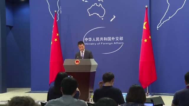 china's ministry of foreign affairs reacts after us imposes punishing tariffs on chinese imports - governmental occupation stock videos & royalty-free footage