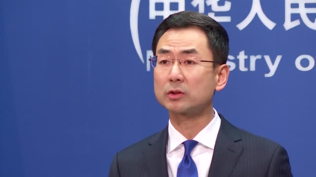 china's ministry of foreign affairs says that beijing is working with other countries including italy in fighting the covid19 - afp stock videos & royalty-free footage