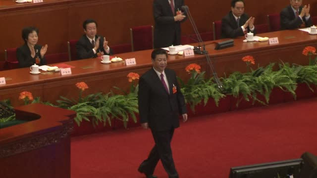 chinas newly installed president xi jinping says he will fight for a great renaissance of the chinese nation in his first speech as head of state of... - speech stock videos & royalty-free footage