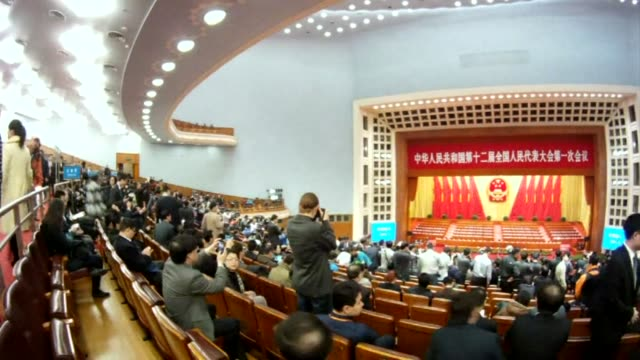 chinas parliament names xi jinping as president four months after he took charge of the communist party with pledges of reform that have raised hopes... - communist party stock videos and b-roll footage