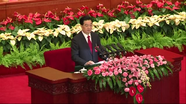 chinas president warns the communist party faces collapse if it fails to clean up corruption and calls for an economic revamp as he opens a congress... - communist party stock videos and b-roll footage