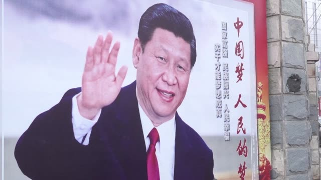china's propaganda machine kicks into overdrive to defend the communist party's move to lift term limits for president xi jinping as criticism... - censura video stock e b–roll