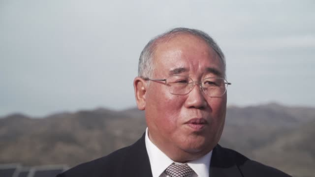 china's representative for climate change xie zhenhua says during a visit to chile that his country and the united states have common issues on... - colina stock videos & royalty-free footage