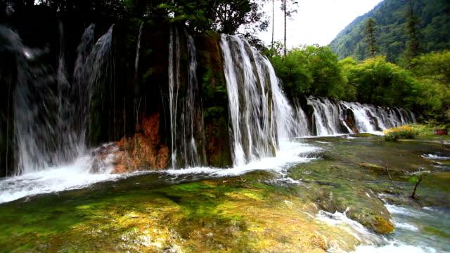 china's sichuan jiuzhaigou waterfall - waterfall stock videos & royalty-free footage