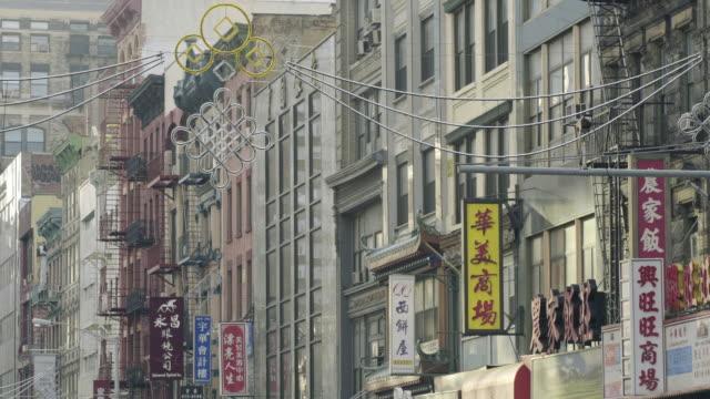 stockvideo's en b-roll-footage met chinatown buildings - winkelbord