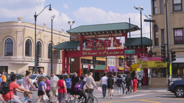 ws chinatown day - chinatown stock videos & royalty-free footage