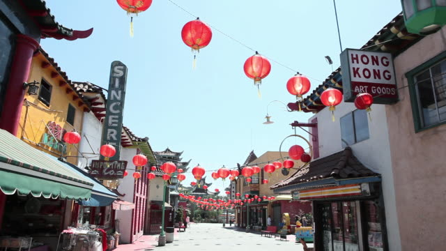 chinatown, downtown la, los angeles county, california, usa - 中国文化点の映像素材/bロール