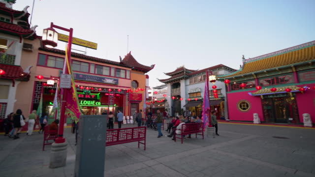 chinatown los angeles - chinatown stock videos & royalty-free footage