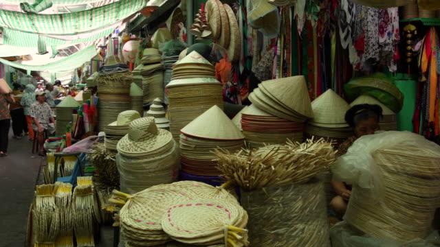 chinatown market in ho chi minh city, vietnam - korb stock-videos und b-roll-filmmaterial