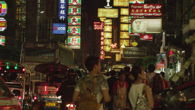 LS Chinatown night street scene, RED R3D 4K