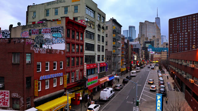 chinatown. small markets and grocery stores. manhattan downtown. freedom tower. city roads. - chinatown stock videos & royalty-free footage
