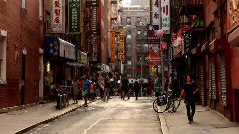 chinatown street scene - chinatown stock videos & royalty-free footage