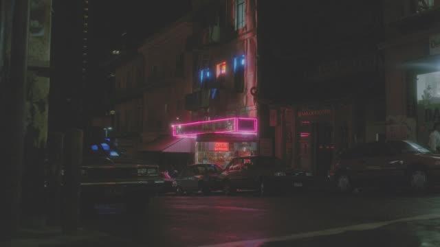 chinatown street w/activity - night - san francisco california stock videos & royalty-free footage