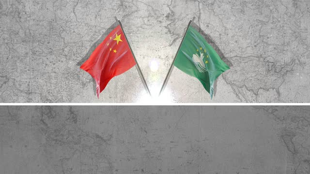 chinese and macao flags - macao flag stock videos & royalty-free footage