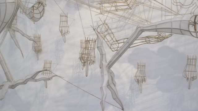 chinese artist ai weiwei opens his new exhibition ai weiwei roots at the lisson gallery london the exhibition features a series of sculptural works... - vignette stock videos & royalty-free footage