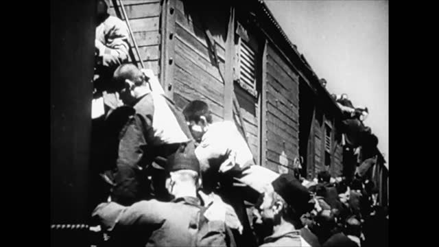 chinese civilian people moving on train away fron japanese controlled territories / removing railroad track - 1938 stock videos & royalty-free footage